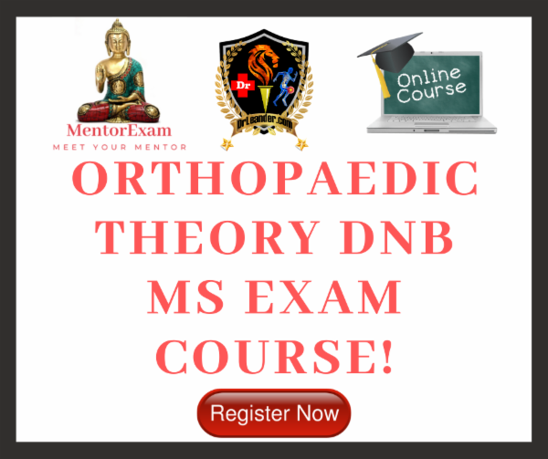 ORTHOPAEDICS DNB MS THEORY EXAM COURSE cover